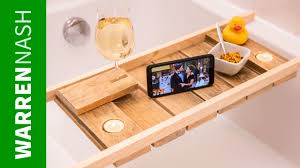 make a pallet bath caddy in a day with wine glass holder easy diy by warren nash