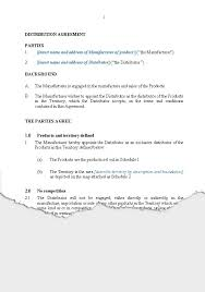 Business Distribution New Zealand Legal Documents Agreements