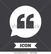Quote Sign Cool Quote Sign Icon Quotation Mark Speech Stock Illustration 48