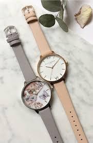 olivia burton big dial leather strap watch 38mm