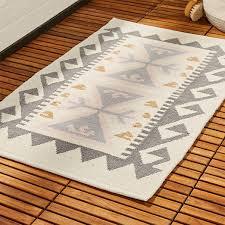 valencia pink and grey bath mat