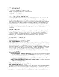 Investor Relations Resume Sample Public Relations Manager Template