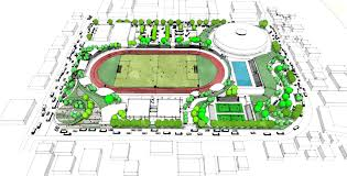 Stadium Planning Design Batangas Sports Complex Concept Ajm Landscape Planning