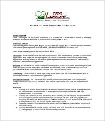 Lawn Mowing Contract Sample Chakrii
