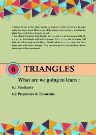 Triangles For Class 10 Cbse Ncert