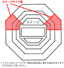 「「ステージサイド席」」の画像検索結果