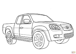 Mitsubishi L200 Coloring Page Picture Super Car Pictures Sketch