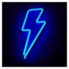Light Neon Blue Neon Lightning Bolt Light Blue In 2020 Blue Neon Lights