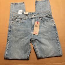 New Mens Levis 510 Skinny Stretch Light Blue Jeans 30x32 Sits At Waist Ar147