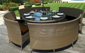 round outdoor dining set new in nice stunning patio table seats 8