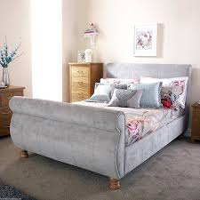 Upholstered Sleigh Bed | Wooden Sleigh Bed | Wood Sleigh Bed