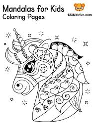 You can simply select a mandala at the left. Free Printable Mandalas For Kids Coloring Pages 123 Kids Fun Apps