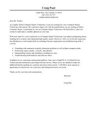 Computer Technician Cover Letter For Resume Tomyumtumweb Com