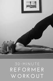 Pilates Reformer Workout Chart Pilates Reformer Workout 30 Minutes Full Body Pilates