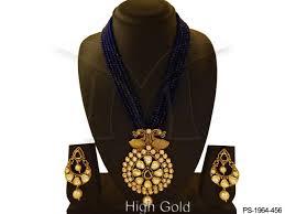 peacock designed heavy pendant set