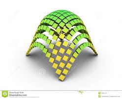 3d elliptic paraboloid graph stock images