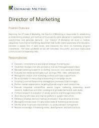 Director Of Marketing Job Descript New Picture Duties Of Sales And