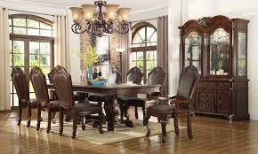 formal dining room sets mcferran home furnishings d5004 10 piece dining room set in rich