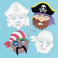 Card Masks To Decorate Pirate colourin Card Masks 100 Assorted Designs for Children to 24