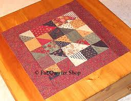 Free Quilt Patterns - Fat Quarter Shop - Charm Squares Tabletopper ... & Harvest Home Charm Squares Tabletopper and Wallhanging Pattern Adamdwight.com