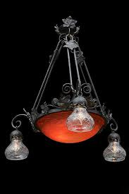 iron chandelier with