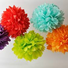 Party Decorations Tissue Paper Balls Paper Flower Balls Tissue Paper Pom Poms 100pcs 100inch Artificial 28