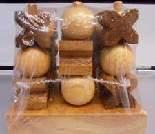 Wooden Naughts And Crosses Game Traditional Wooden Naughts Crosses Game eBay 79