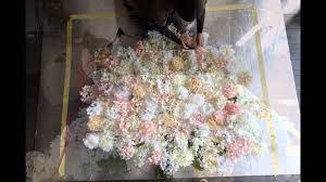 Flower Wall Diy Flower Wall Youtube