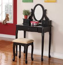 small black vanity table. olivia espresso trifold mirror vanity table set small black l