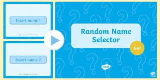 Random Name Selector Editable Powerpoint