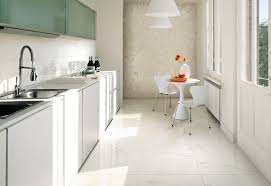 white tile floor kitchen. Contemporary White Amazing White Tile Floor Kitchen With Ceramic Textured  Wall Identify Design And