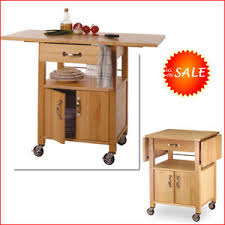 Image Is Loading Wood Rolling Kitchen Island Storage Drop Leaf Cabinet