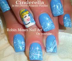 Nail Art Tutorial | Cinderella Nails | Disney Princess Nail Design ...