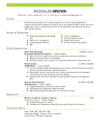 Html Resume Examples Resume Templates Uk Examples Of Job Resume Examples Of Resumes 1