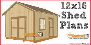 12x16 shed plans gable design