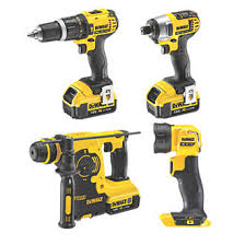 dewalt screw gun. dewalt dck454m3t-gb 18v 4.0ah li-ion xr cordless 4-piece power tool kit | kits \u0026 twinpacks screwfix.com dewalt screw gun