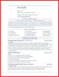 Word Document Sample Good Resume Format