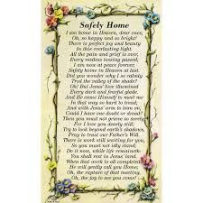 Funeral Prayer Cards Safely Home Personalized Prayer Card Priced Per Card The