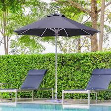 galtech sr series 7 1 2 ft aluminum patio umbrella with manual lift