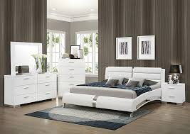 Home furniture bed designs Real Leather Furniture u003e Rooms To Go Adora Home White Eastern King Upholstered Bed Wdresser Mirror