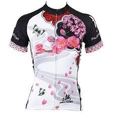 Paladin Cycling Jersey Size Chart Paladin Cycling Jersey For Women Short Sleeve Plum Flower Pattern Bike Shirt