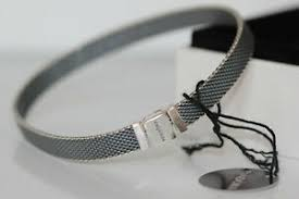 bracelet oxidized silver mesh choose