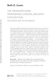 PDF) The tension between professional control and open ...