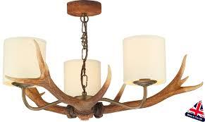 david hunt antler 3 light highland rustic chandelier drum shades