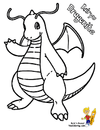 Small Picture Pokemon Coloring Pages Dragonite 1 olegandreevme