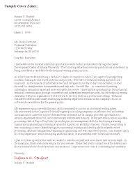 Cover Letter Design Sample Cover Letter For Graduate School