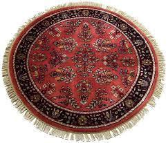 3 feet round persian sarouk design rug 12184 intended for rugs designs 1