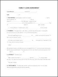 Family Loan Template Sample Contract For Borrowing Money Sample Contract For Borrowing