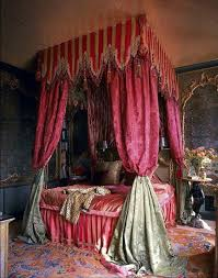 colours for a bedroom: rich colours for a slightly bohemian feeling for a bedroom