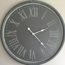 cozy gray wall clock 138 grey large clocks